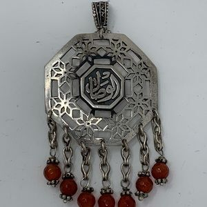 Sterling Silver Pendant with Natural Agate